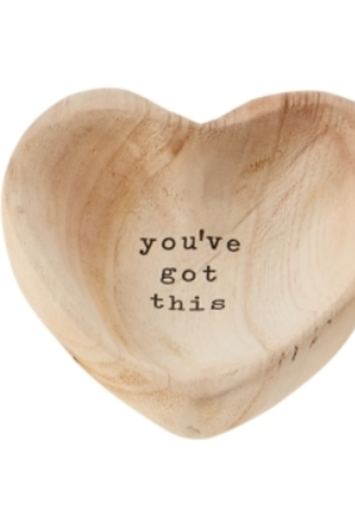 """""""You've Got This"""" Wood Heart Trinket Tray"""