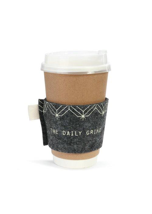 Grey Felt Coffee Cozie Gift Card Set