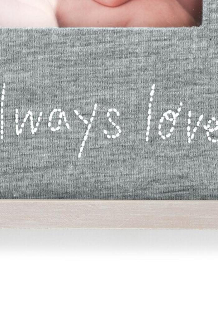 """Always Loved"" Stitched Frame"