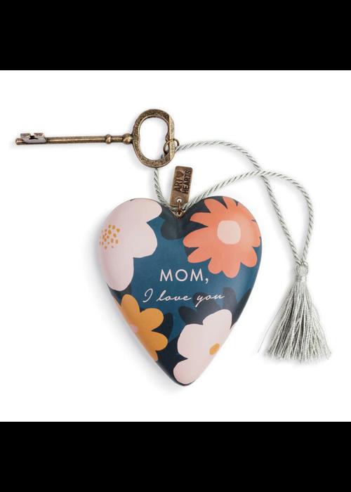 """Mom, I Love You"" Art Heart"