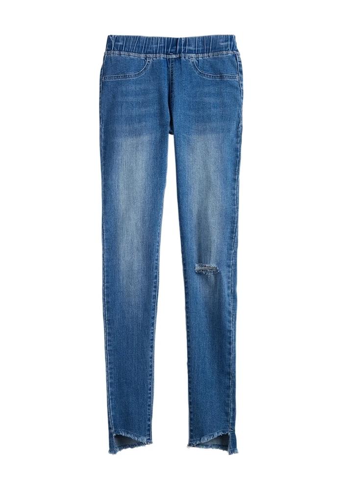 Dax Distressed Spandex Stretch Blue Jeans