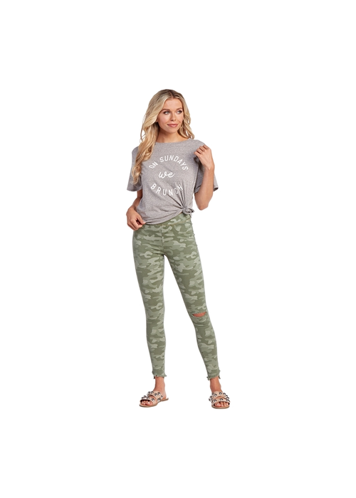 Mudpie Dax Distressed Spandex Stretch Camo Jeans