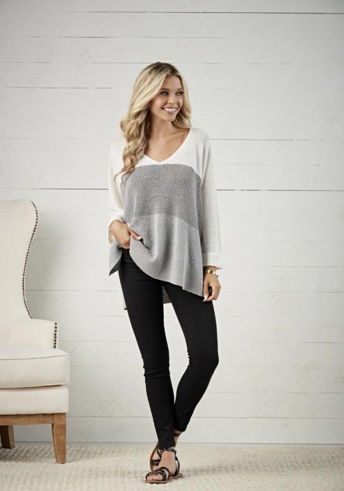 Lincoln Color Block Sweater