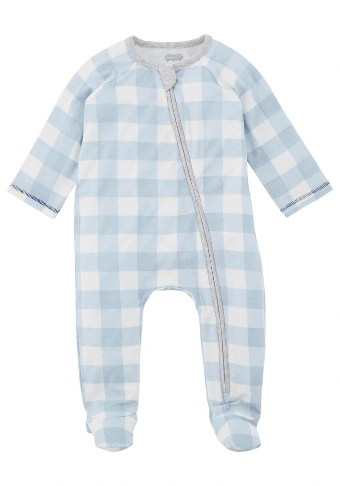 Blue Gingham Knit Sleeper