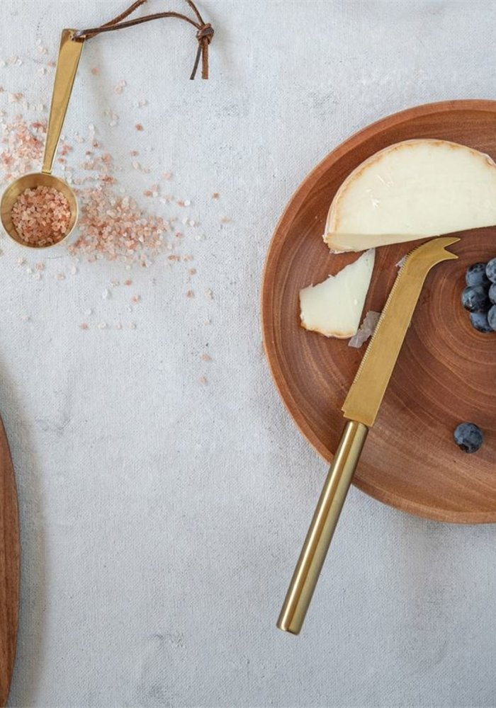 """10.5"""" Gold Stainless Steel Cheese Knife"""