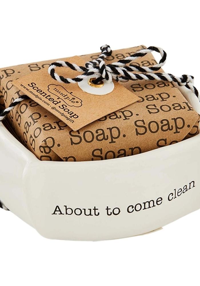 Debossed Soap Dish Set