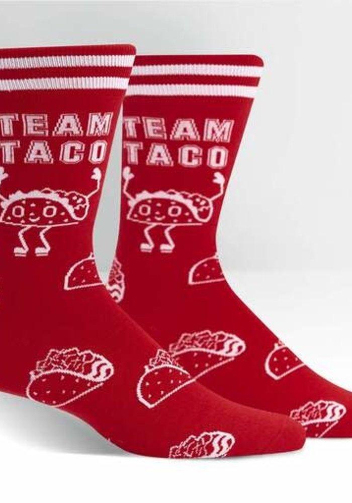 """""""Team Taco"""" Men's Crew Socks"""
