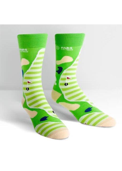 """""""Par 4"""" Men's Golf Crew Socks"""