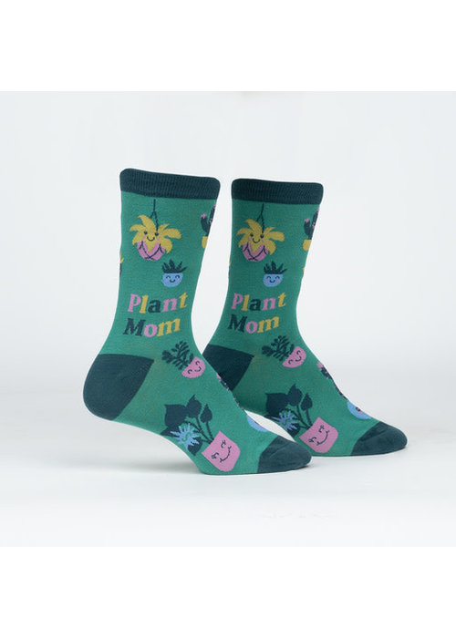 """Plant Mom"" Women's Crew Socks"