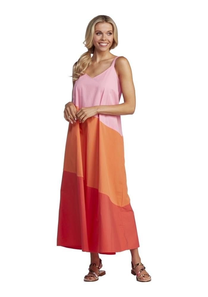 Pink Color Block Mackenzie Maxi Dress