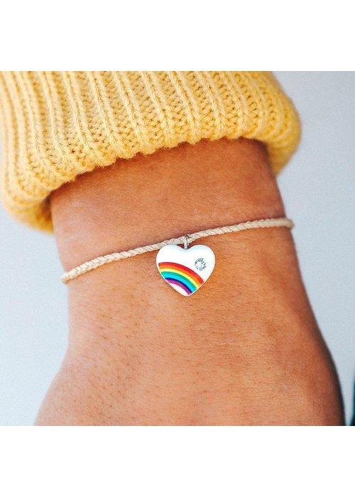 Pura Vida Vanilla Vintage Heart Bracelet