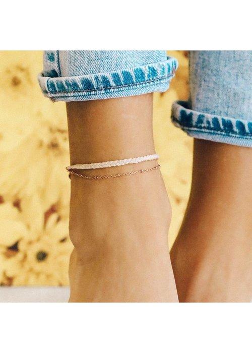 Pura Vida Rose Gold Satellite Chain Anklet