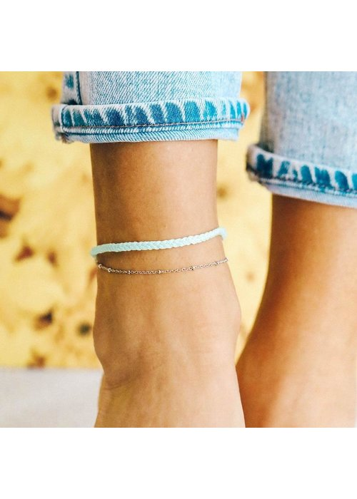 Pura Vida Silver Satellite Chain Anklet