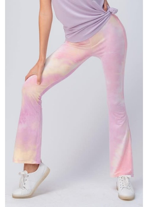 Pastel Tie Dye Bell Bottom Pants