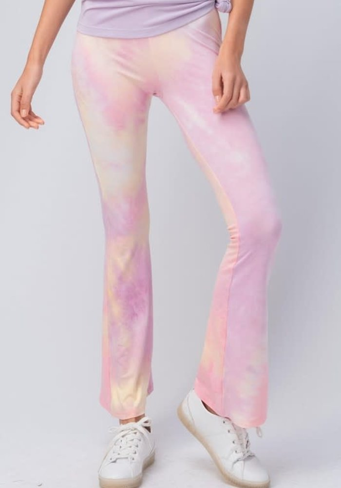 Pastel Tie Dye Bell Bottom Pants