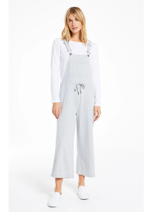 Z Supply Cinched Waist French Terry Overalls