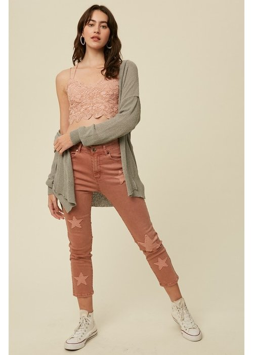 Star Quilted Stretch Jeans
