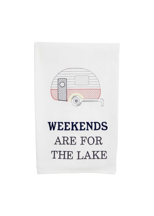 """Mudpie """"Weekends Are For the Lake"""" Tea Towel"""