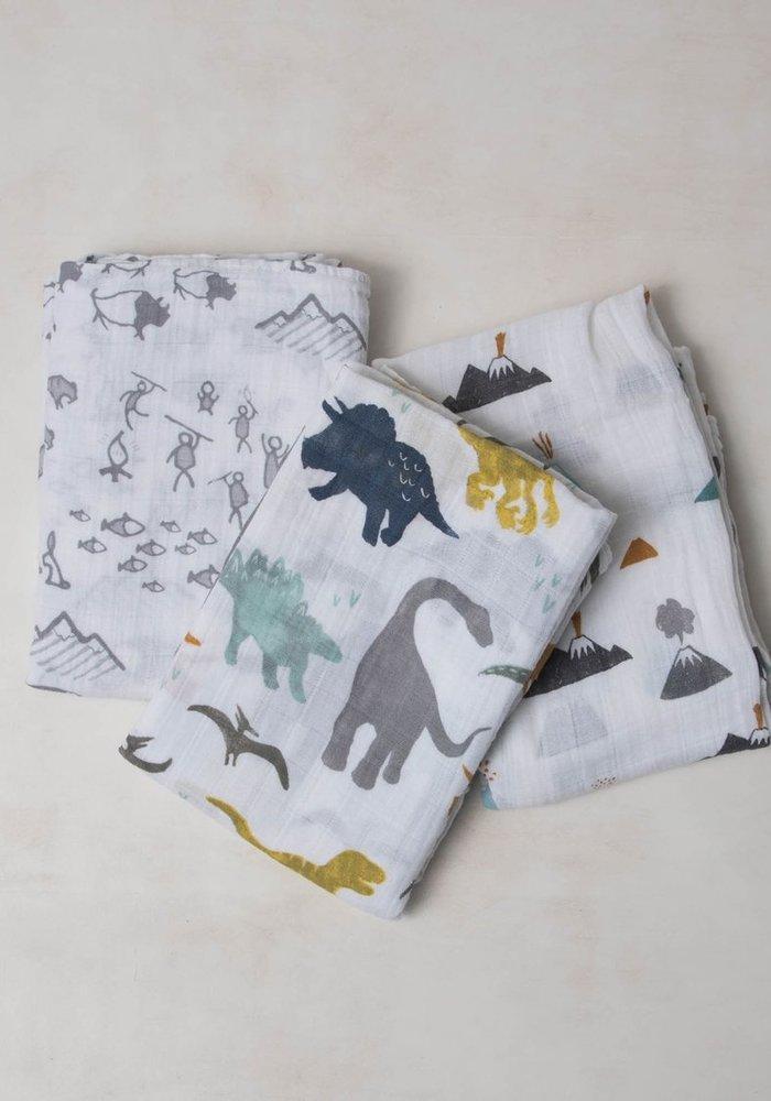 Dino Friends Cotton Muslin Swaddles