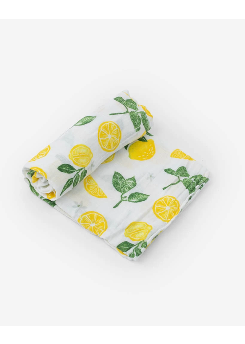 Lemon Drop Cotton Muslin Swaddle