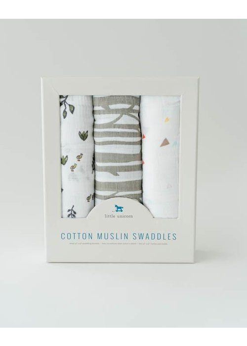 Forest Friends Cotton Muslin Swaddles