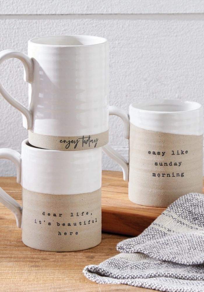 """""""Easy Like Sunday Morning"""" Stoneware Mug"""