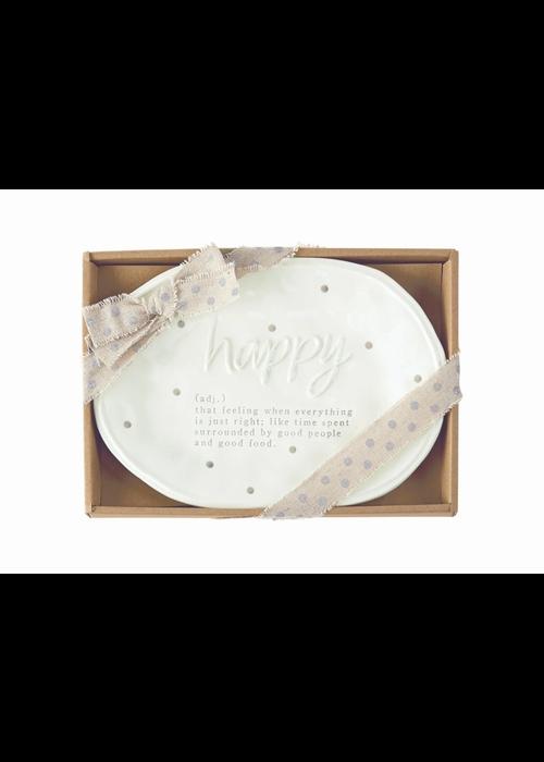 Mudpie Happy Definition Plate