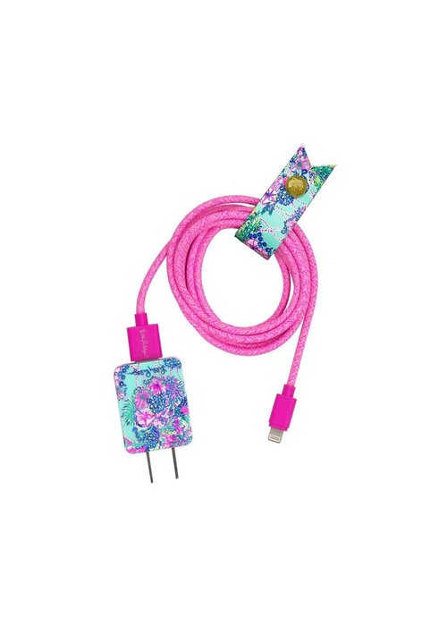 """Lilly Pulitzer """"Beach You To It"""" Charging Cord Set"""