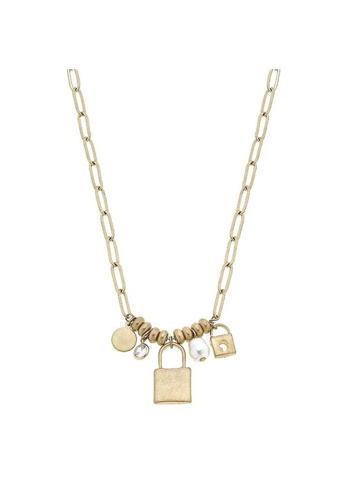 Camryn Padlock Charm Necklace