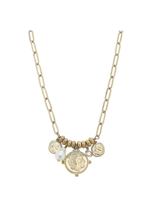 Camryn Coin Charm Necklace