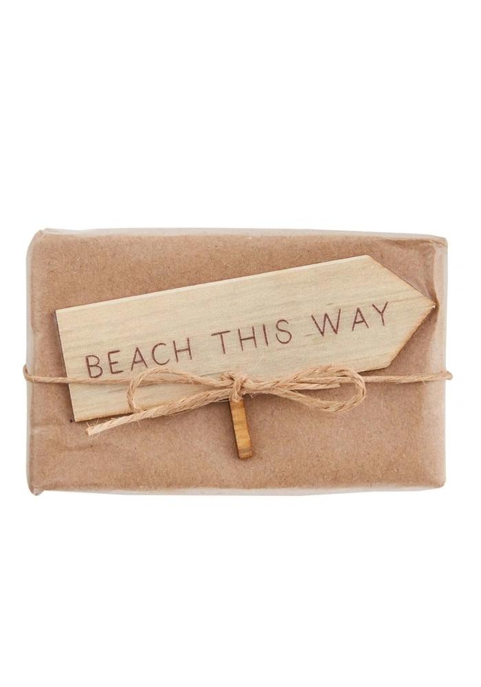 Kraft Wrapped Beach-Themed Oatmeal Soap