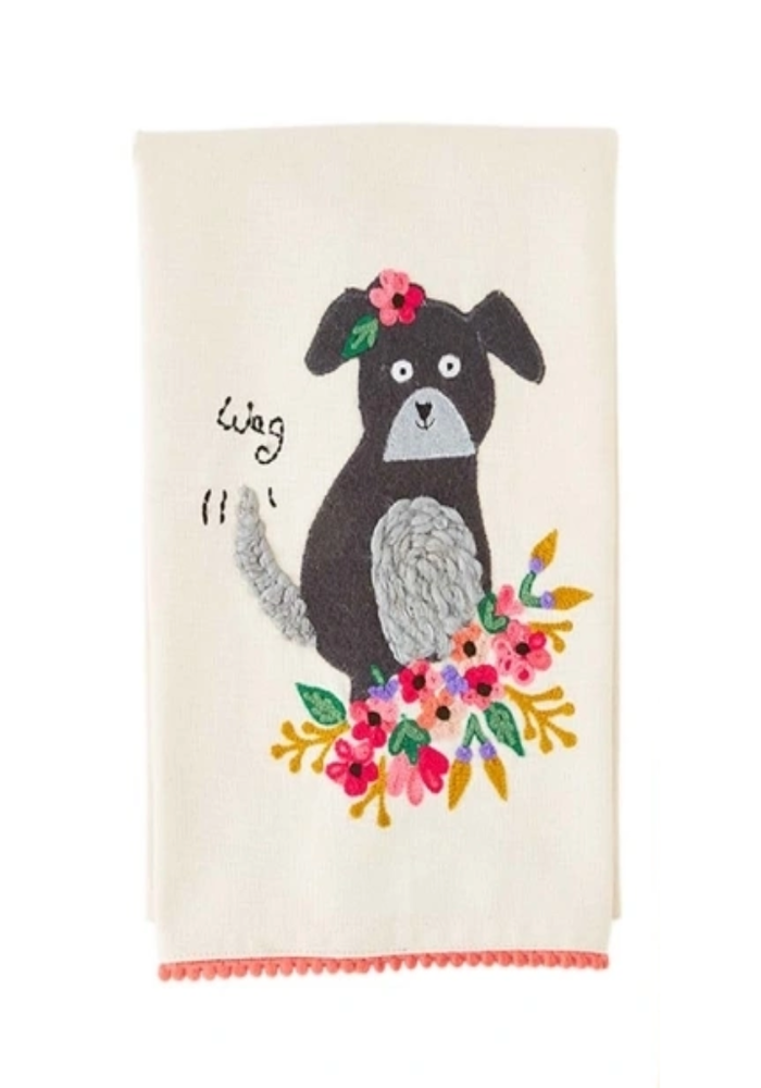 Pet Embroidered Towel