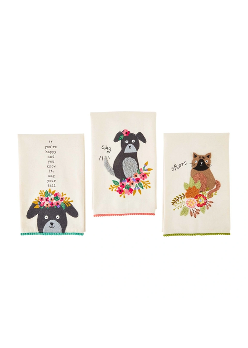 Mudpie Pet Embroidered Towel
