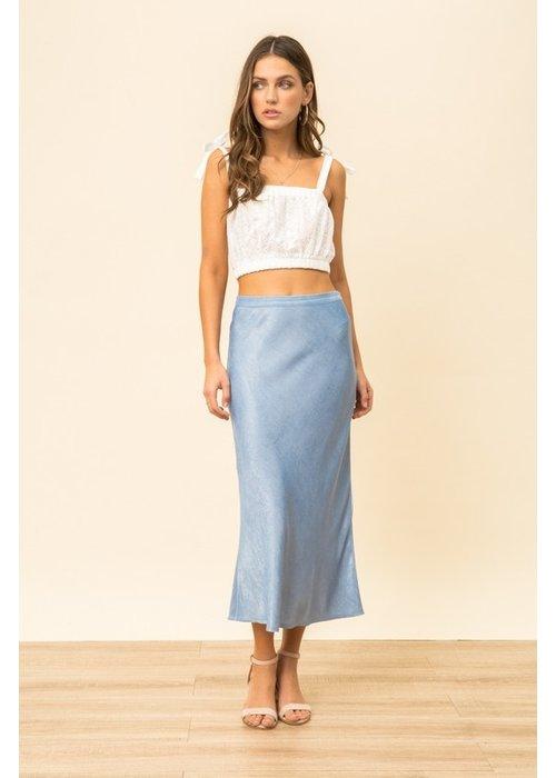 Midi Satin Skirt