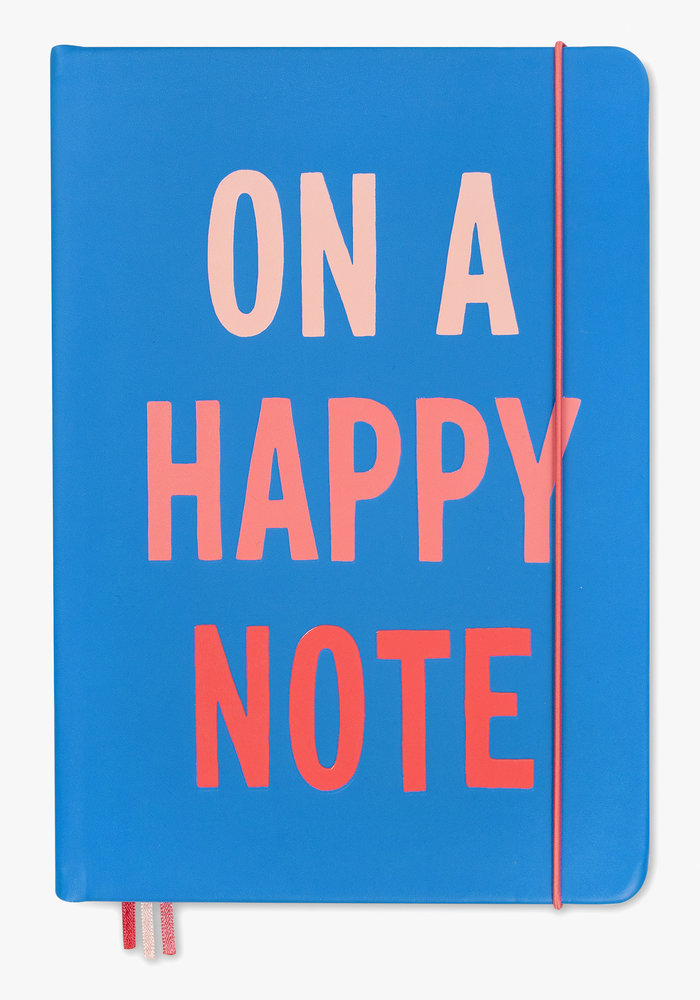 """""""On a Happy Note"""" XL Notebook"""