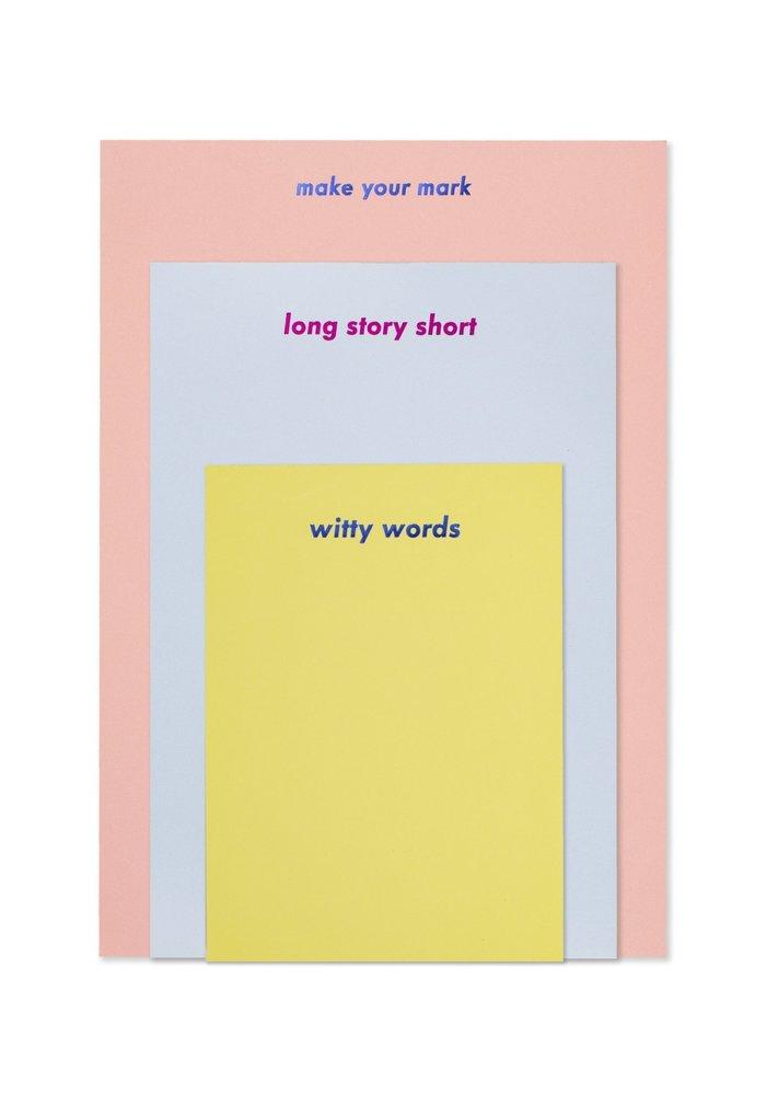 """Make Your Mark"" Notepad Set"