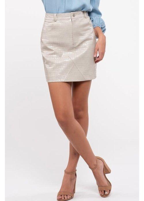 Snake High Waisted Mini Skirt