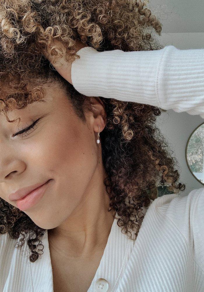 Pearl Drop Chain Earring