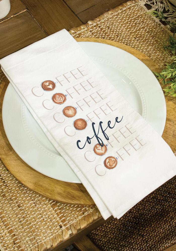 """""""Coffee"""" Latte Art Tea Towel"""