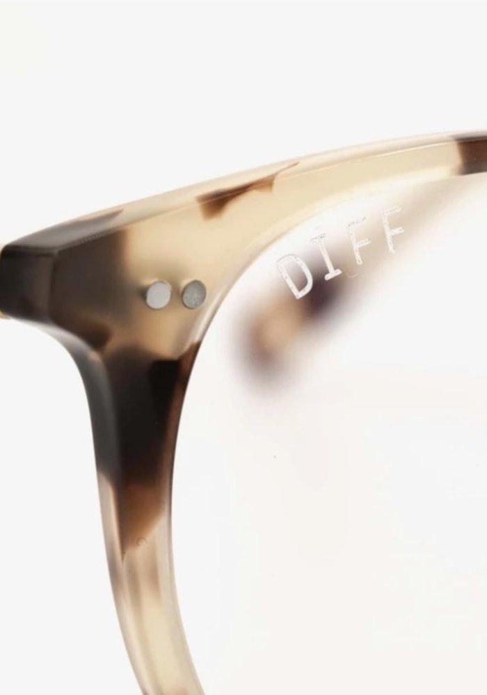 DIFF Jaxson Blue Light Blocking Glasses Cream Tortoise