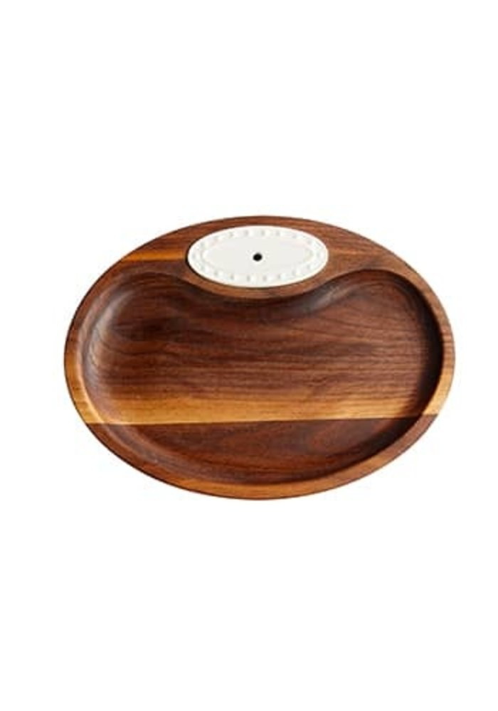 Nora Fleming Walnut Tidbit Tray