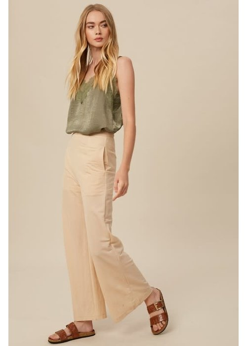 Champagne High Waisted Wide-Leg Pants