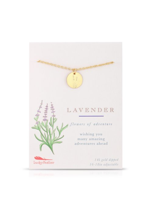 Lucky Feather Lavender Botanical Necklace