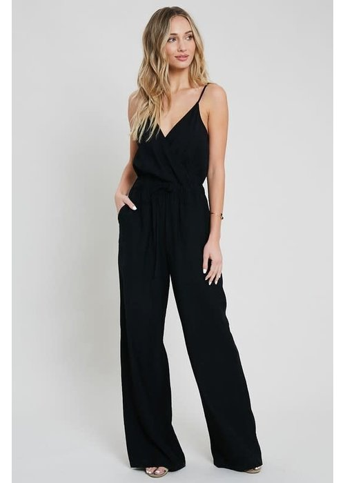 Black Cami Pocket Jumpsuit