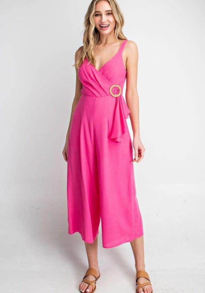 Hot Pink Mid-Length Jumpsuit