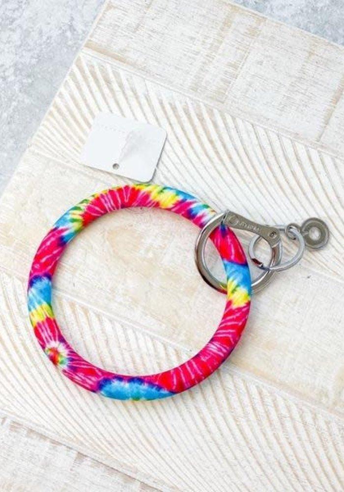 Rainbow Tie Dye Big Silicone O Ring