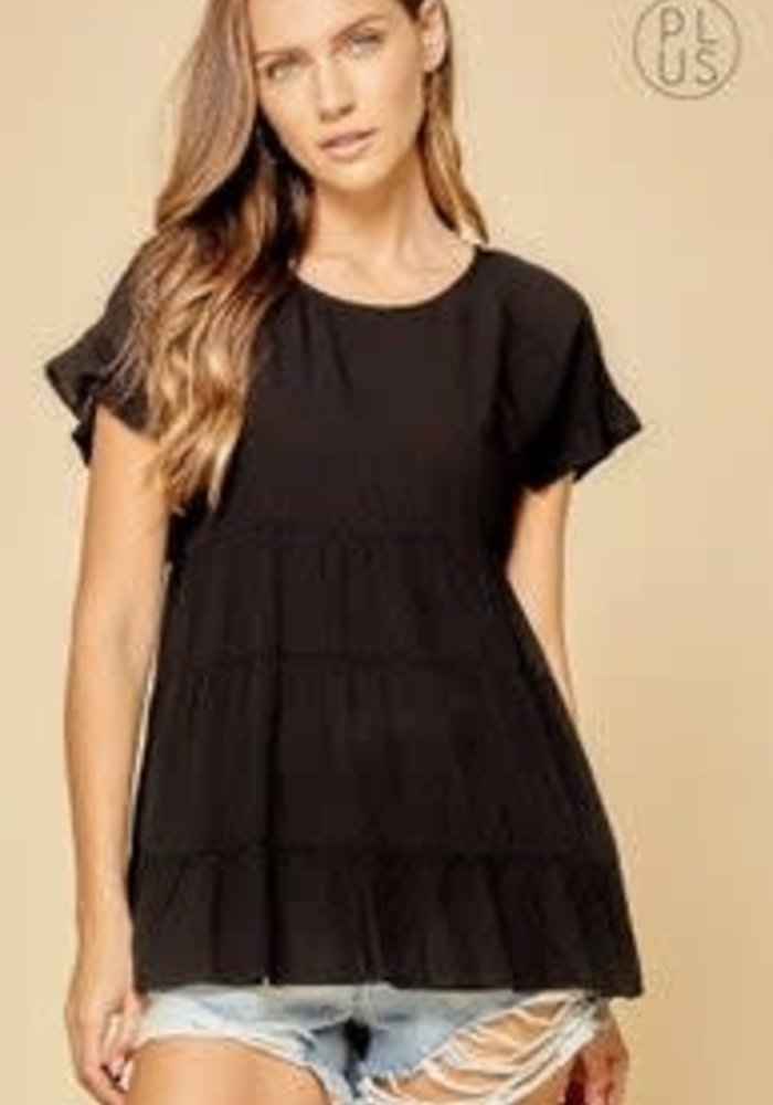Tiered Babydoll Top (Plus)