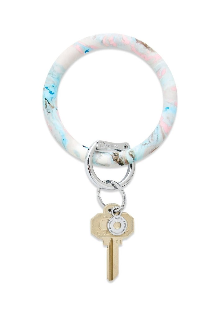 """""""Pastel Marble"""" Big Silicone O Ring"""