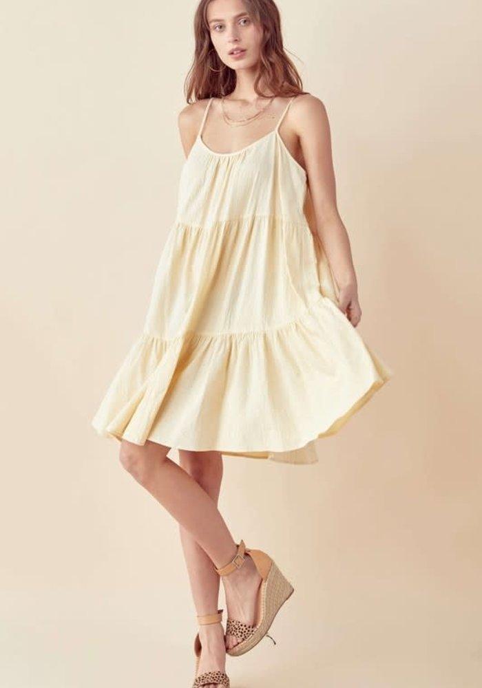 Oatmeal Sleeveless Tiered Midi Dress