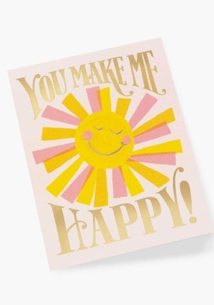 """You Make Me Happy!"" Gold Foil Card"